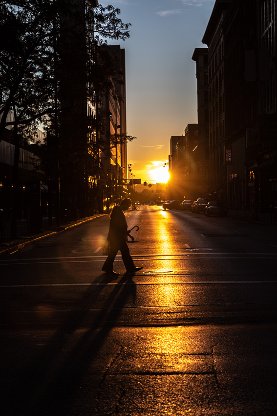 Silhouette on 4th Street.